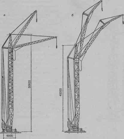 Башенный передвижной кран КБ-